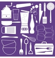 Kitchen utensils vector image vector image