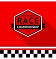 Racing badge 03 vector image
