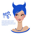 girl with blue hair vector image vector image
