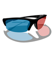 3D cinema glasses vector image