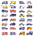 special vehicles icons on white vector image