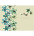 Turquoise floral seamless background vector image