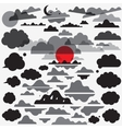 clouds set icons vector image