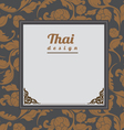 Thai Art Background Thai art pattern vector image