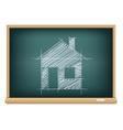 board house sketch vector image vector image