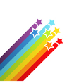 Background with rainbow stars vector image vector image