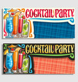 banners for cocktail party vector image