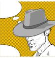cowboy graphic vector image