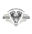 Custom motor in vintage style vector image