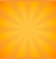 halftone beam yellow sun rays vector image