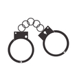metal handcuffs icon vector image