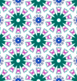 Pattern abstract flowers vector image