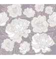 seamless floral pattern or background with flowers vector image