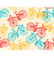 summer time seamless pattern of retro red an vector image