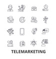 telemarketing call center telesales marketing vector image