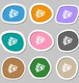 Us dollar icon symbols Multicolored paper stickers vector image