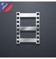 Video icon symbol 3D style Trendy modern design vector image