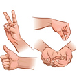 Hands and gestures vector