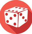 Dice Icon vector image vector image