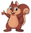 Squirrel cartoon waving hand vector image vector image