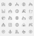 geothermal energy icons set vector image