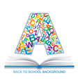 Back to SCHOOL template vector image