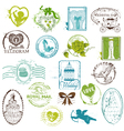 Vintage Rubber Stamp Collection vector image vector image