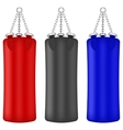 Set of Colorful Boxing Bags vector image
