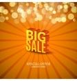 Big Sale 3d letters poster Promotional marketing vector image