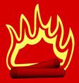burning wood vector image