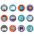 Color interface icons vector image