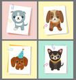 dogs stickers collection vector image