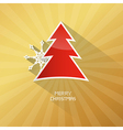 Gold Abstract Merry Christmas Background ith Red vector image