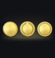 golden award medals set on black background vector image