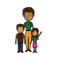 mother with childrens together relation vector image