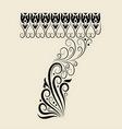 Number 7 floral decorative ornament vector image