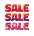 Sale - geometric abstract words vector image