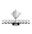 set of trophies vector image