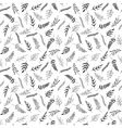 Seamless pattern of black and white herb vector image