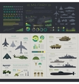 Military infographic set vector image