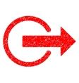Logout Grainy Texture Icon vector image