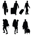 travelers vector image