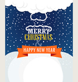 Christmas greating card vector image