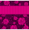pink valentine background with roses vector image