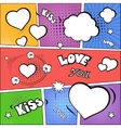 Valentines day and wedding background flat vector image