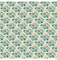 Seamless vintage river fish scales vector image