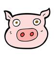 comic cartoon pig face vector image