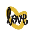 Poster lettering love vector image
