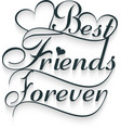 Best friends forever Calligraphy text vector image