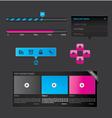 black set of web design vector image